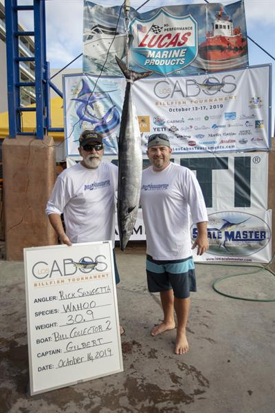 Image of a Wahoo caught by Rick Sangetta on team Bill Collector 2 at the 2019 Los Cabos Billfish Tournament
